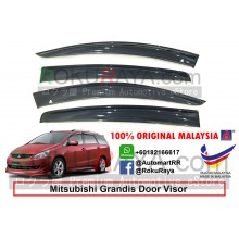 Mitsubishi Grandis AG Door Visor Air Press Wind Deflector (Big 12cm Width)