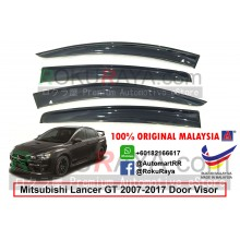 Mitsubishi Lancer GT 2007-2017 AG Door Visor Air Press Wind Deflector (Big 12cm Width)