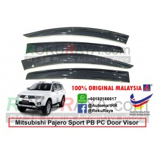 Mitsubishi Pajero Sport PB PC (2nd Gen) 2008-2016 AG Door Visor Air Press Wind Deflector (Big 12cm Width)
