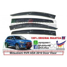 Mitsubishi ASX RVR Hatchback (3rd Gen) 2010 AG Door Visor Air Press Wind Deflector (Big 12cm Width)