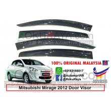 Mitsubishi Mirage (6th Gen) 2012 AG Door Visor Air Press Wind Deflector (Big 12cm Width)