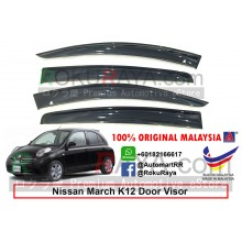 Nissan March K12 (3rd Gen) 2002-2010 AG Door Visor Air Press Wind Deflector (Small 7cm Width)
