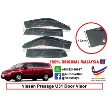 Nissan Presage U31 (2nd Gen) 2003-2009 AG Door Visor Air Press Wind Deflector (Extra Big 16cm Width)
