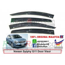 Nissan Sylphy G11 (2nd Gen) 2005-2012 AG Door Visor Air Press Wind Deflector (Big 12cm Width)