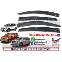 Nissan Grand Livina L10 L11 2006 AG Malaysia Door Visor Air Press Wind Deflector (Big 12cm Width)