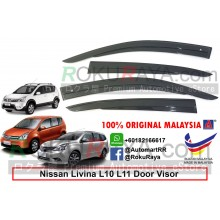 Nissan Grand Livina L10 L11 2006 AG Malaysia Door Visor Air Press Wind Deflector (AG Mugen Design)