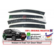 Nissan X-Trail Xtrail T31 (2nd Gen) 2007-2013 AG Door Visor Air Press Wind Deflector (Big 12cm Width)