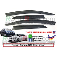 Nissan Almera N17 2011 AG Door Visor Air Press Wind Deflector (Medium 8cm Width)