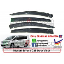 Nissan Serena Hybrid MkIV C26 (4th Gen) 2013-2017 AG Door Visor Air Press Wind Deflector (Big 12cm Width)