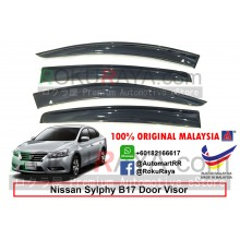 Nissan Sylphy B17 (3rd Gen) 2012 AG Door Visor Air Press Wind Deflector (Big 12cm Width)