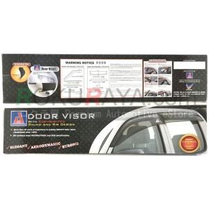 Nissan Navara NP300 D23 4Door (3rd Gen) 2015 AG Door Visor Air Press Wind Deflector (Big 12cm Width)