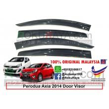 Perodua Axia 2014 AG Door Visor Air Press Wind Deflector (Big 12cm Width)