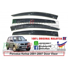 Perodua Kelisa 2001-2007 AG Door Visor Air Press Wind Deflector (Big 12cm Width)