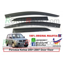 Perodua Kelisa 2001–2007 AG Door Visor Air Press Wind Deflector (Small 7cm Width)