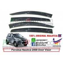 Perodua Nautica 2008 AG Door Visor Air Press Wind Deflector (Big 12cm Width)