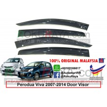 Perodua Viva 2007-2014 AG Door Visor Air Press Wind Deflector (Big 12cm Width)