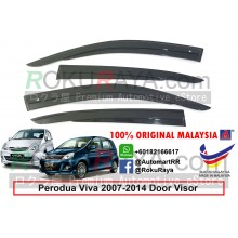 Perodua Viva 2007-2014 AG Door Visor Air Press Wind Deflector (AG Mugen Design)