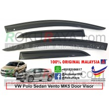 Volkswagen Polo Sedan Vento MK5 (5th Gen) 2009-2017 AG Door Visor Air Press Wind Deflector (Medium 8cm Width)