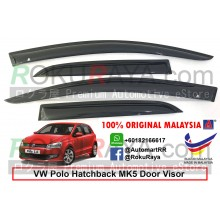Volkswagen Polo Hatchback MK5 (5th Gen) 2008-2017 AG Door Visor Air Press Wind Deflector (Medium 8cm Width)