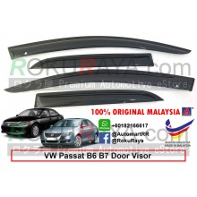 Volkswagen Passat Sedan B6 B7 2005-2015 AG Door Visor Air Press Wind Deflector (Medium 8cm Width)