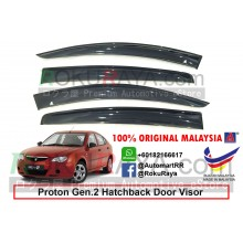 Proton Gen2 Gen 2 Hatchback AG Door Visor Air Press Wind Deflector (Big 12cm Width)