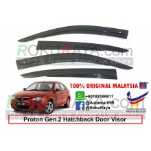 Proton Gen2 Gen 2 Hatchback AG Door Visor Air Press Wind Deflector (AG Mugen Design)