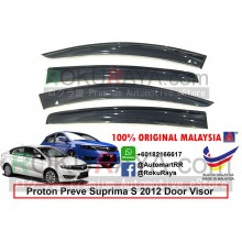 Proton Preve Suprima S 2012 AG Door Visor Air Press Wind Deflector (Big 12cm Width)