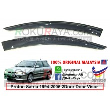 Proton Satria 2Door (1st Gen) 1994-2006 AG Door Visor Air Press Wind Deflector (Big 12cm Width)