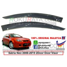 Proton Satria Neo 2Door (2nd Gen) 2006-2015 AG Door Visor Air Press Wind Deflector (Big 12cm Width)
