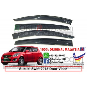 Suzuki Swift (3rd Gen) 2014 AG Door Visor Air Press Wind Deflector (Big 12cm Width)