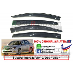 Subaru Impreza Sedan Ver10 (3rd Gen) 2007-2014 AG Door Visor Air Press Wind Deflector (Big 12cm Width)