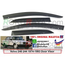 Volvo 240 244 1974-1993 AG Door Visor Air Press Wind Deflector (Small 7cm Width)
