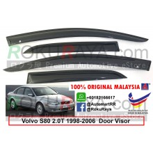 Volvo S80 2.0T (1st Gen) 1998-2006 AG Door Visor Air Press Wind Deflector (Small 7cm Width)