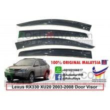 Lexus RX330 XU30 (2nd Gen) 2003-2008 AG Door Visor Air Press Wind Deflector (Big 12cm Width)
