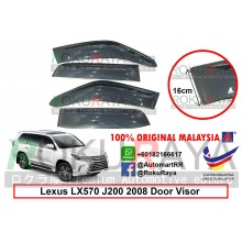 Lexus LX570 J200 (3rd Gen) 2008 AG Door Visor Air Press Wind Deflector (Extra Big 16cm Width)