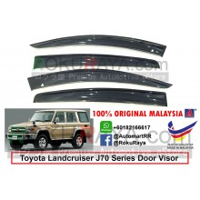 Toyota Landcruiser J70 Series 1984 AG Door Visor Air Press Wind Deflector (Big 12cm Width)