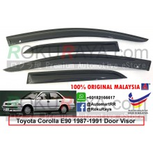 Toyota Corolla (6th Gen) AE90 1987-1991 AG Door Visor Air Press Wind Deflector (Small 7cm Width)