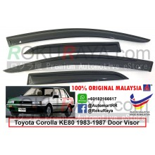 Toyota Corolla (5th Gen) KE80 E80 1983-1987 AG Door Visor Air Press Wind Deflector (Small 7cm Width)