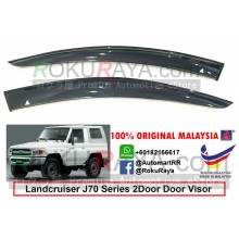 Toyota Landcruiser J70 Series 2Door 1984 AG Door Visor Air Press Wind Deflector (Big 12cm Width)