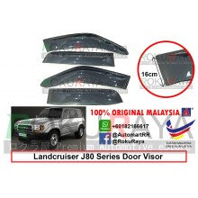 Toyota Landcruiser J80 Series 1990-1997 AG Door Visor Air Press Wind Deflector (Extra Big 16cm Width)