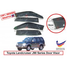 Toyota Landcruiser Prado J90 Series 1996-2002 AG Door Visor Air Press Wind Deflector (Extra Big 16cm Width)