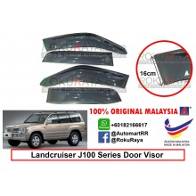 Toyota Landcruiser J100 Series 1998-2007 AG Door Visor Air Press Wind Deflector (Extra Big 16cm Width)