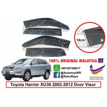 Toyota Harrier XU30 (2nd Gen) 2003-2008 AG Door Visor Air Press Wind Deflector (Big 12cm Width)