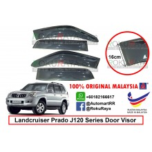 Toyota Landcruiser Prado J120 Series 2002-2009 AG Door Visor Air Press Wind Deflector (Big 12cm Width)