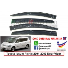 Toyota Ipsum Picnic (2nd Gen) 2001-2009 AG Door Visor Air Press Wind Deflector (Big 12cm Width)