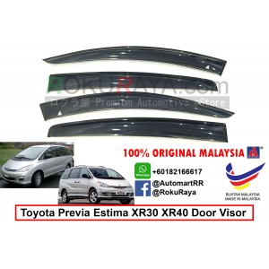 Toyota Previa Estima XR30 XR40 (2nd Gen) 2000-2005 AG Door Visor Air Press Wind Deflector (Big 12cm Width)