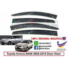 Toyota Innova AN40 (1st Gen) 2004-2015 AG Door Visor Air Press Wind Deflector (Big 12cm Width)