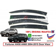 Toyota Fortuner AN50 AN60 (1st Gen) 2004-2015 AG Door Visor Air Press Wind Deflector (Big 12cm Width)
