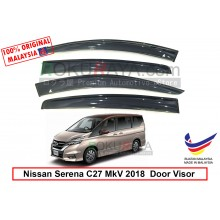 Nissan Serena MkV C27 (5th Gen) 2017 AG Door Visor Air Press Wind Deflector (Big 12cm Width)