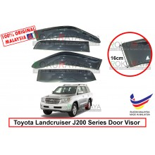 Toyota Landcruiser J200 Series 2008 AG Door Visor Air Press Wind Deflector (Extra Big 16cm Width)